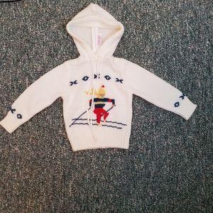 Vintage IZOD Sweater Ski Zip Infants 18 - 24 Month